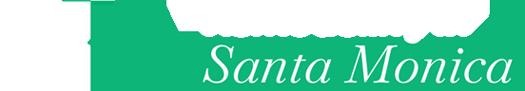 Santa Monica Logo White